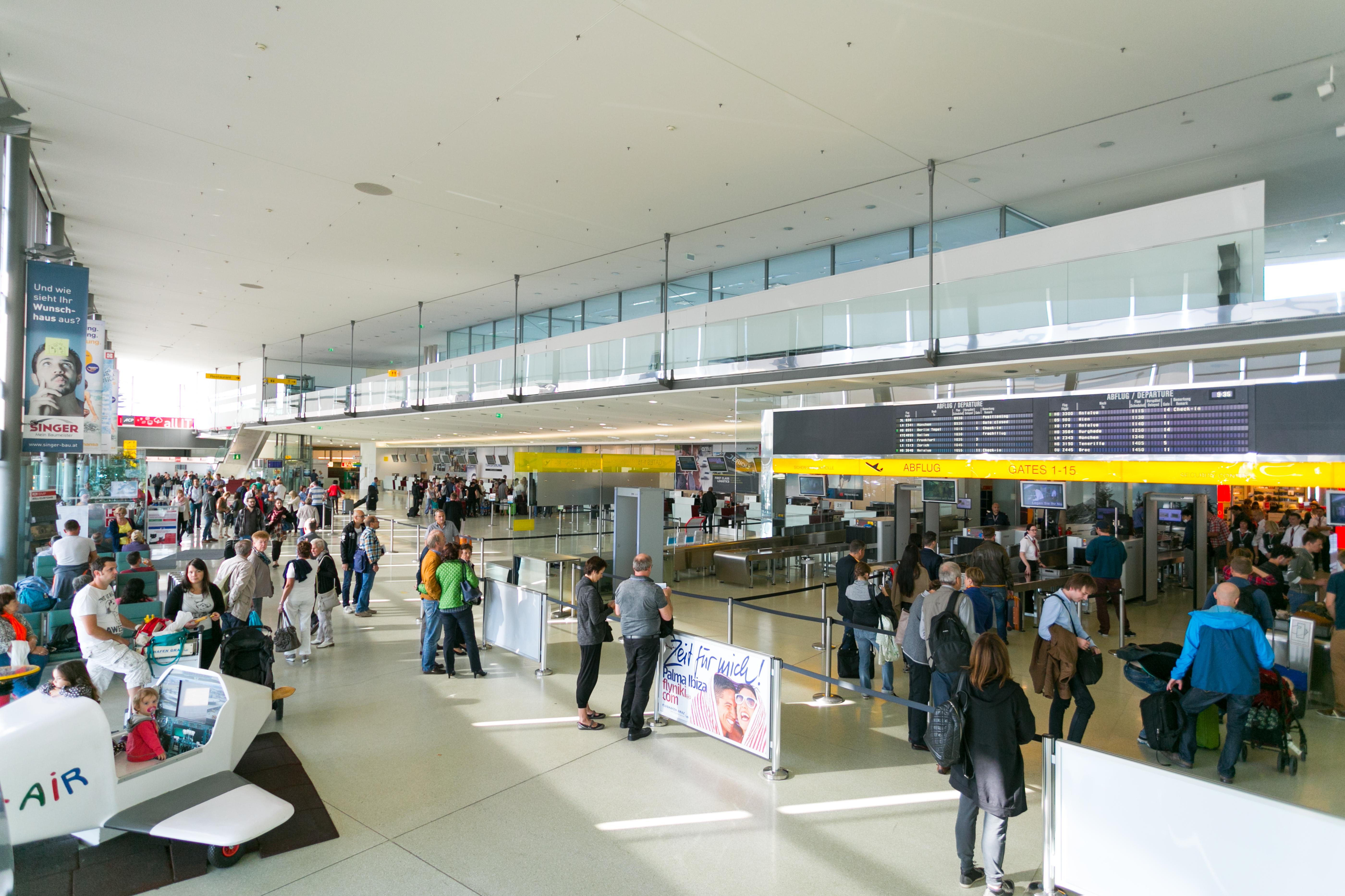Flughafen Graz Interior Views Terminal Flightinformation