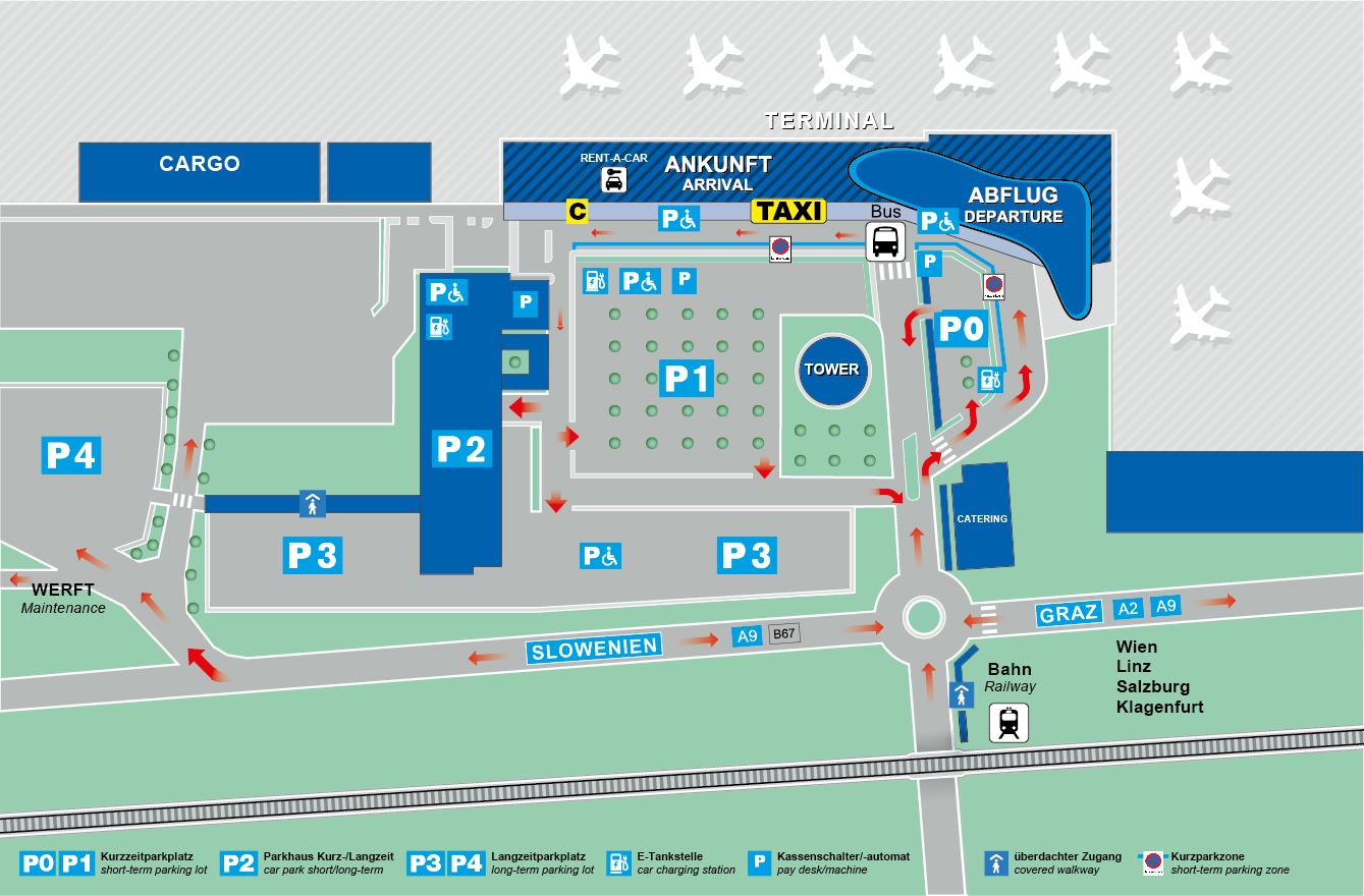 Flughafen Graz Airport Maps Flightinformation